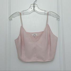 Wilfred ARITZIA Light Pink Crop Top Size US 6